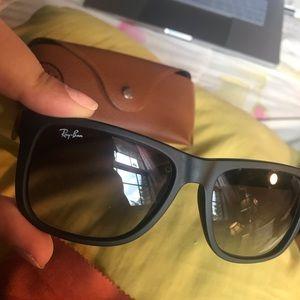 Ray-ban matte frame ombre lenses sunglasses